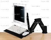 EZM Monitor and Keyboard Stand/Wall Mount Black (002-0003B)