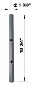 "EZM Basic Add-On Pole with 1 3/8"" Dia (002-02RA Open)"