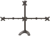 "EZM Pyramid Quad Monitor Mount Free Standing up to 24""(002-0034)"